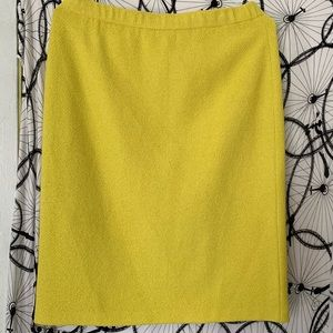 ST JOHN bright yellow midi pencil skirt